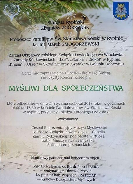 Zaproszenie Na Koncert Kolęd Rypintv